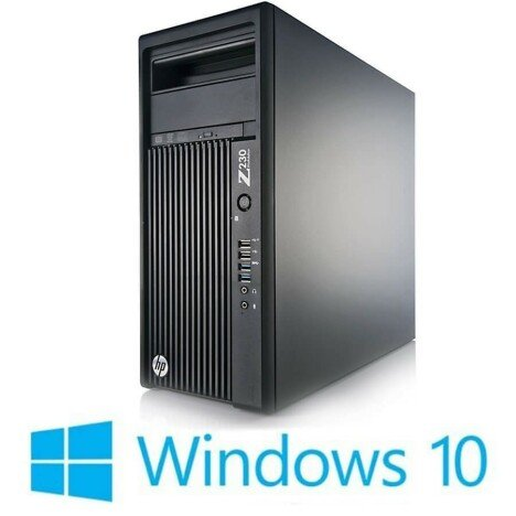 Workstation refurbished HP Z230 Tower, Xeon Quad Core E3-1226 v3, Win 10 Home
